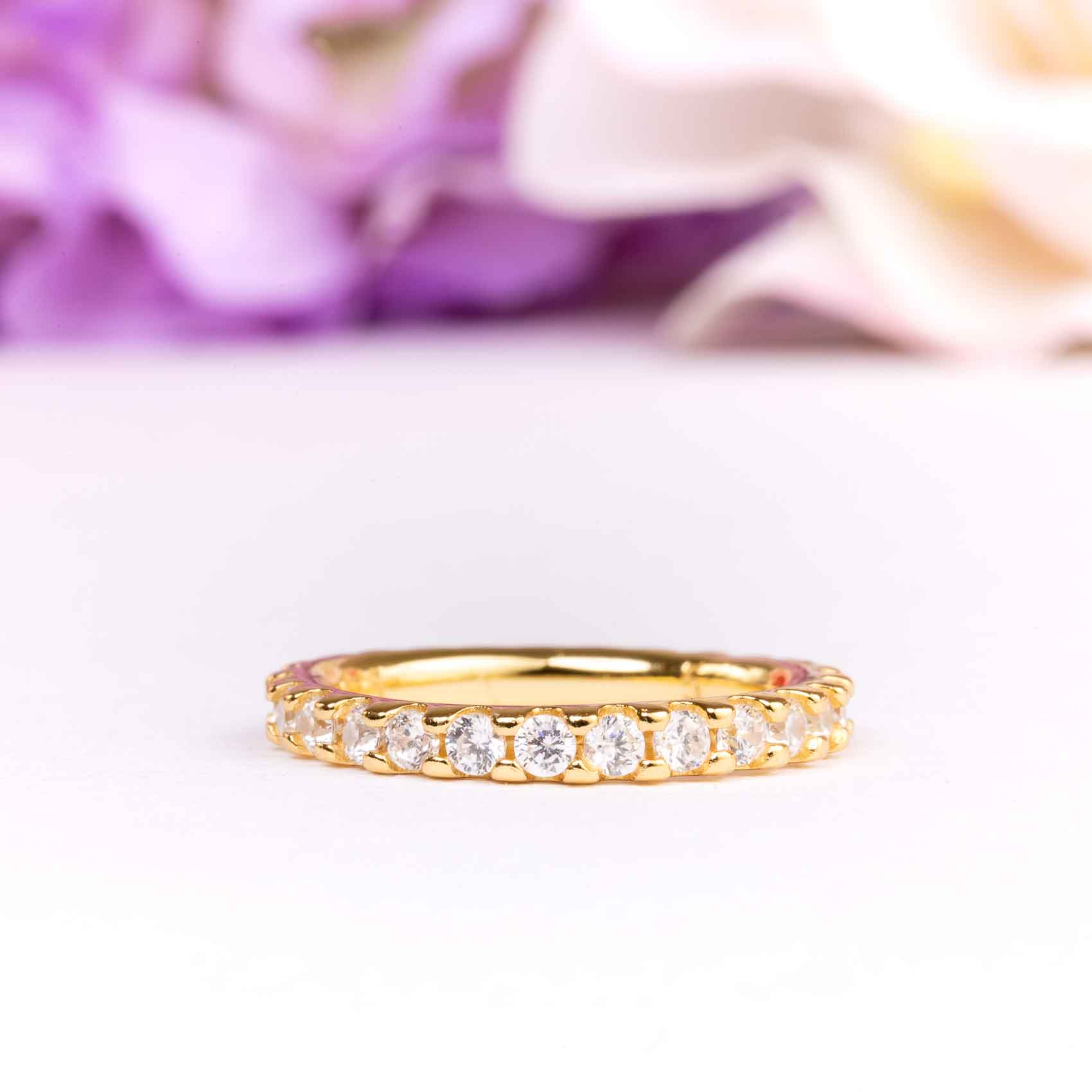 1 ctw 2mm Eternity Wedding Band in Gold