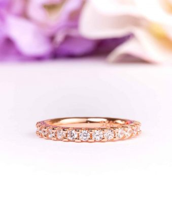 2mm Eternity Wedding Band In Rose Gold