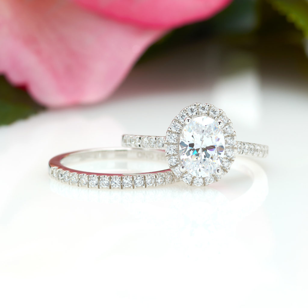 1 CWT Halo Oval Engagement Ring 1