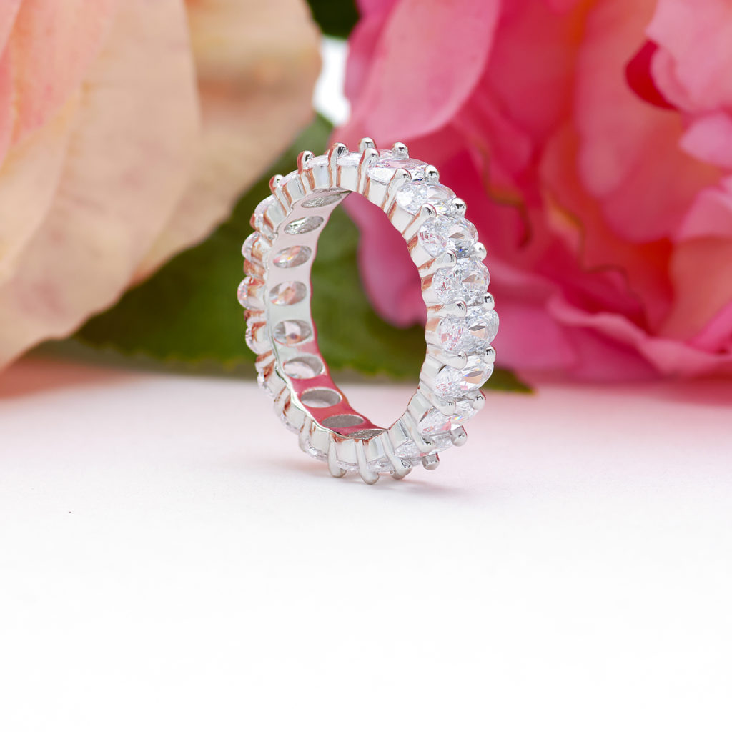 Oval Eternity Band in Silver