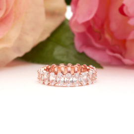 Oval Eternity Band in Rose Gold