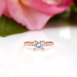 Round-Cut-Engagement-Ring-in-Rose