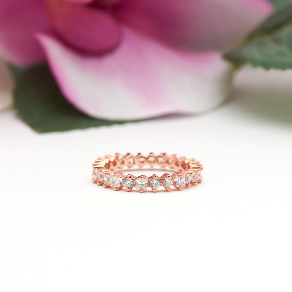 Square-and-Round-Eternity-Band