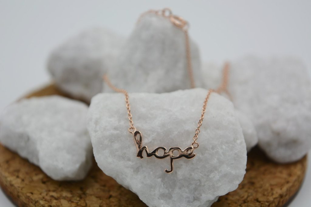 Hope Necklace in Rose Gold