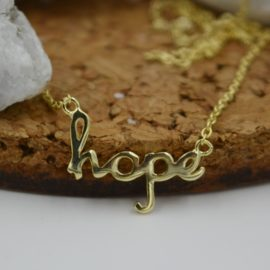 Hope Necklace in Gold